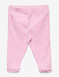 Ruffled Stretch Cotton Legging - CARMEL PINK