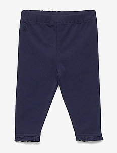 Ruffled Stretch Cotton Legging - FRENCH NAVY