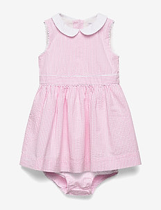 Seersucker Dress & Bloomer - PINK MULTI