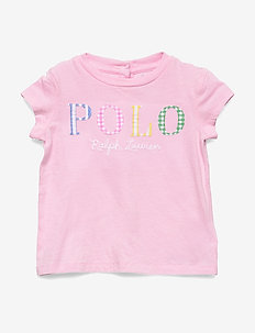 Polo Logo Cotton Tee - CARMEL PINK
