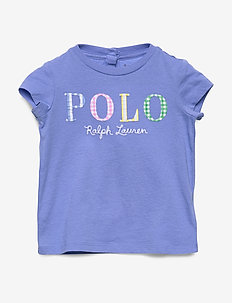 Polo Logo Cotton Tee - logo - harbor island blu