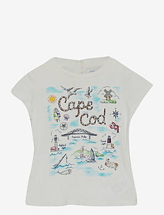 Cotton Jersey Graphic Tee - À manches courtes - deckwash white