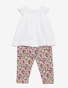 Top & Floral Legging Set - jeu de 2 pièces - white