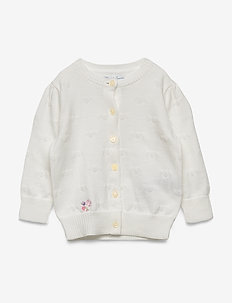 Hearts Cotton Cardigan - TROPHY CREAM