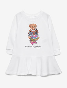 Madras Bear Dress & Bloomer - WHITE