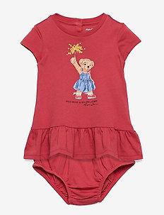 Bear Tee Dress & Bloomer - kleider - nantucket red