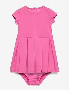 Pleated Knit Dress & Bloomer - BAJA PINK