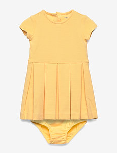 Pleated Knit Dress & Bloomer - EMPIRE YELLOW