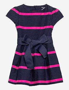 Striped Sateen Dress & Bloomer - kleider - french navy multi