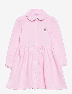 KNIT OXFORD-SOLID DRESS-DR-KNT - kleider - carmel pink
