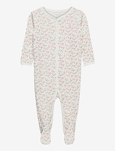 Floral Jersey Footed Coverall - romper - multi floral