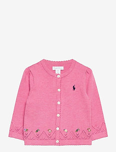 COTTON-FINE CARDI-TP-SWT - gilets - preppy pink heath