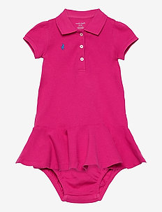 Piqué Polo Dress & Bloomer - kjoler - accent pink/colby