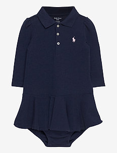 Piqué Polo Dress & Bloomer - mekot - french navy