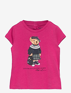 Backpack Bear Cotton Tee - kurzärmelige - college pink