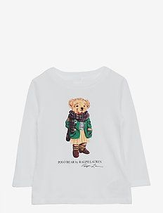 Cardigan Bear Jersey Tee - long-sleeved t-shirts - white