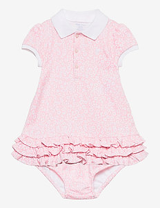 Ruffled Polo Dress & Bloomer - dresses - pink white multi