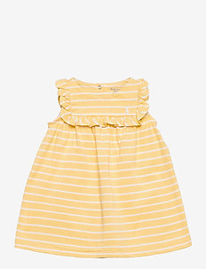 Ruffled Dress & Bloomer - jurken - empire yellow/whi