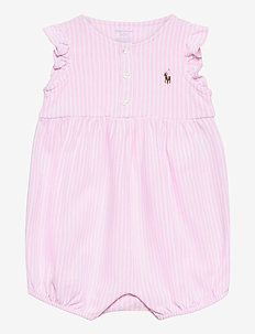 Oxford Mesh Bubble Shortall - kurzärmelig - carmel pink/white