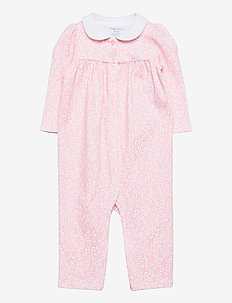 Floral Cotton Interlock Coverall - langärmelig - pink white multi