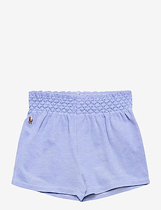 Smocked Oxford Pull-On Short - shorts - harbor island blu