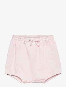Floral Interlock Bloomer Short - bottoms - pink white multi