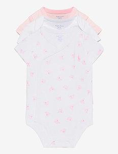 Nautical 3-Piece Bodysuit Set - kortærmede - delicate pink mul