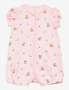 Polo Bear Interlock Shortall - kurzärmelig - pink multi