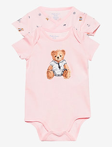 Polo Bear Bodysuit 2-Piece Set - kurzärmelig - pink multi
