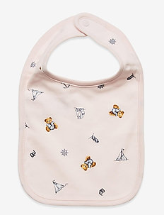 Polo Bear Interlock Bib - bavoir - pink multi