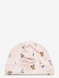 Polo Bear Interlock Hat - hats - pink multi