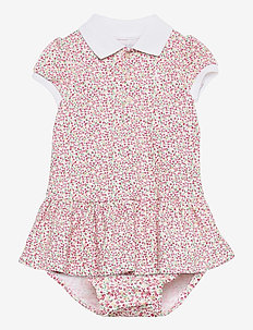 Floral Polo Dress & Bloomer - dresses - white multi