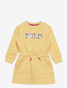 Logo Fleece Dress & Bloomer - jurken - banana peel