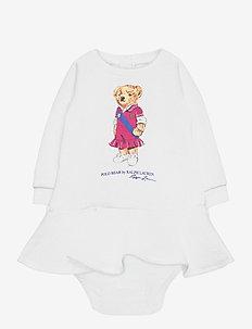 Polo Bear Dress & Bloomer - kjoler - white