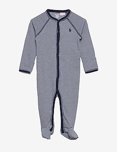 Striped Cotton Jersey Coverall - one-sie - french navy multi