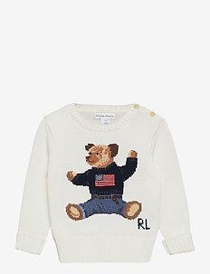 Polo Bear Cotton Sweater - knitwear - nevis