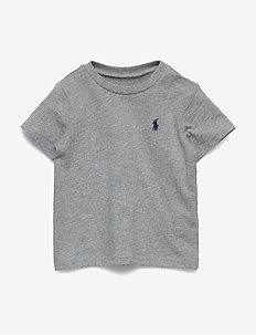 Cotton Jersey Crewneck Tee - À manches courtes - andover heather
