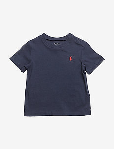 Cotton Jersey Crewneck Tee - short-sleeved - cruise navy