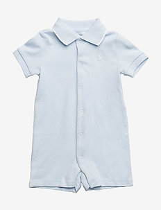 Cotton Interlock Polo Shortall - korte mouwen - beryl blue