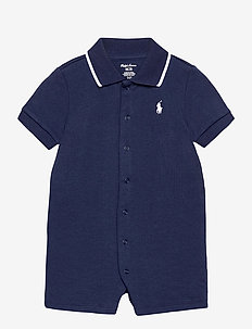 Cotton Interlock Polo Shortall - kurzärmelig - french navy