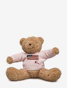 Small Flag-Sweater Polo Bear - playtime - french pink