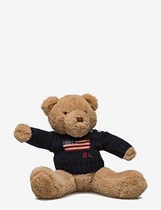 Small Flag-Sweater Polo Bear - HUNTER NAVY