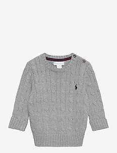 Cable-Knit Cotton Sweater - strickmode - league heather