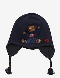 Polo Bear Wool-Blend Hat - NAVY
