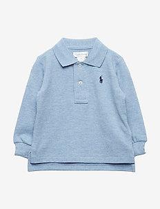 Cotton Mesh Polo Shirt - NEW POWDER BLUE H