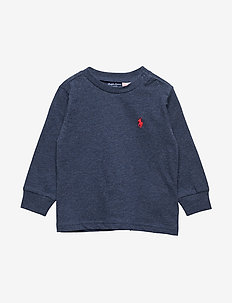 Cotton Jersey Long-Sleeve Tee - BASIC NAVY HEATHE