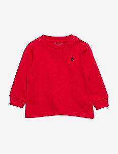Cotton Jersey Long-Sleeve Tee - manches longues - rl red