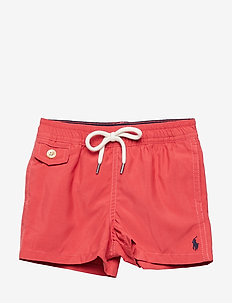 SOLID POLY-TRAVELER SWIMWEAR BOXER - NANTUCKET RED
