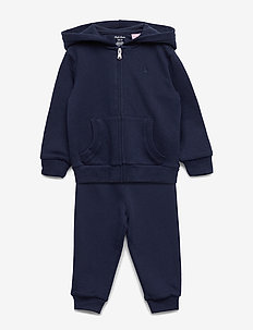 French Terry Hoodie & Pant Set - FRENCH NAVY
