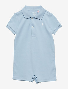 Cotton Polo Shortall - SHADOW BLUE